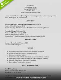 Social Worker Resume Format Examples School Objective Service Cv