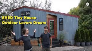 shed tiny house. SHED Tiny House - Couple Build Dream Shed YouTube
