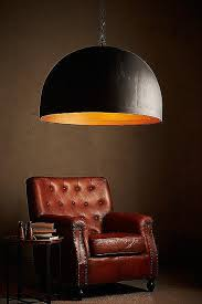 noir pendant gold interior noir extra iron dome pendant light black with from large