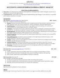 Loan Review Analyst Sample Resume Credit Banking Analyst Sample Resume 1