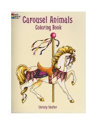 carousel animals coloring book carousel animals coloring book