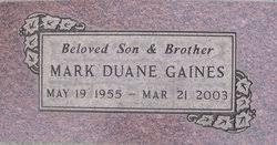 Mark Duane Gaines (1955-2003) - Find A Grave Memorial