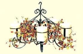 outdoor hanging candle chandelier real chandeliers non electric candelabra medium size holder gem pillar chande