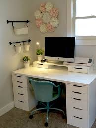 Craft Room - IKEA - ALEX - LINNMON If I could get a desk the size and style  of the one I already have, but in black with clean edges and alex ...
