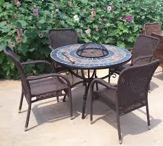round firepit bbq table with slate top bowl cover table dia 42 107cm h 29 74cm nw 62kgs chair w 22 1 2 d 23 1 2 h 36 91cm