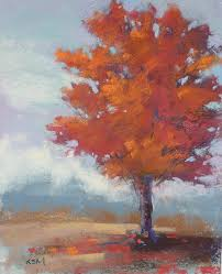 how to paint a red tree