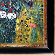 full image for gustav klimt farm garden with sunflowers hand painted framed canvas art free