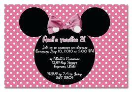 minnie mouse invitation template minnie mouse birthday invitation layout wording for a invitations