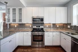 terrific u shape white kitchen cabinets decorating ideas