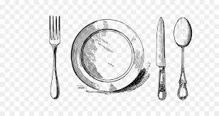Fork Drawing Plate Line art kitchen utensils png download 10988