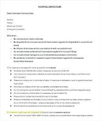 C Section Birth Plan Top Result Simple Birth Plan Template Lovely Free Word Excel