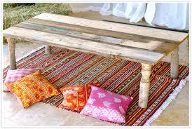 Assi Di Legno Colorate : Come realizzare un tavolo in stile bohème fai da te creativo