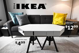 the kvissle adjustable coffee table