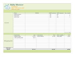 014 Baby Shower Checklist Excel 261863 Guest List Template