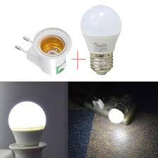 Night Light Socket Base Us 3 64 50 Off E27 Emergency Light Night Lamp Home Lighting Led Night Light Eu Plug Bedside Lamp Wall Mounted Energy Efficient 5w In Night Lights