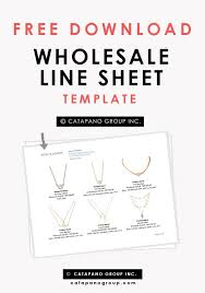 How To Create A Wholesale Line Sheet Catapano Group Templates