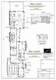 small two story house plans narrow lot awesome single story house plans for narrow lots unique
