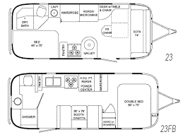 airstream floor plans. Airstream Floor Plans Magnificent On Interior And Exterior Designs Flying Cloud Floorplans 23 23FB Gif 9
