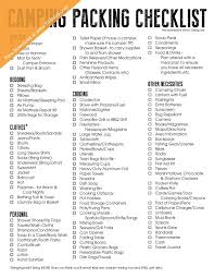Camping Packing Checklist - Free Printable | Free printable, Jack ...