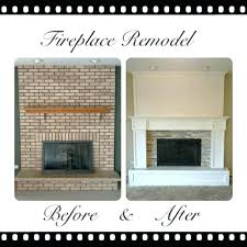 replace brick fireplace remodeled fireplaces remodel repair surround refacing with stone