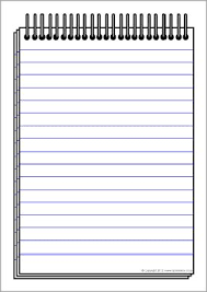 Notepad Template Notepad Writing Template Sb7544 Sparklebox Writing Writing