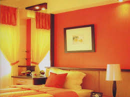 elegant wall colour combination with yellow wall decor and painting