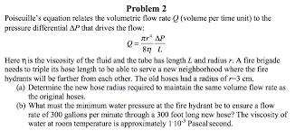 poiseuille s equation relates the volumetric flow