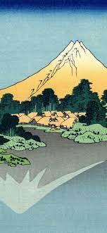 village, mountain, coast, japanese art ...