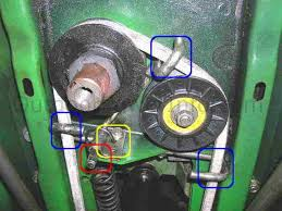 installation repair and replacement of john deere stx30 and stx38 john deere stx38 gear drive belt yellow deck engine pulley