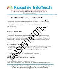 Amazing Resume For Inplant Training Ideas - Simple resume Office .