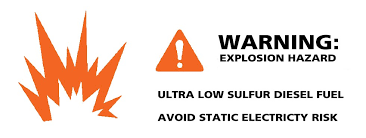 low sulfur deisel ulsd static electricity risk during refueling morbark llc