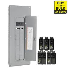 circuit breakers breaker boxes fuses at lowes com square d homeline 80 circuit 40 space 200 amp main breaker plug