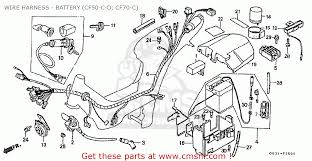 honda cf50d ese home market cf50 330 wire harness battery wire harness battery cf50 c d cf70 c schematic