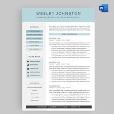 Resume Cv Template Package For Microsoft Word The Wesley