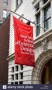 New York School Of Interior Design A Red And White Flag Outside Of New Yorks School Of