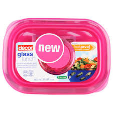 decor resealable container glass lunch break 600ml at countdown co nz