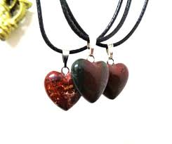 red jasper heart choker necklace gemstone necklace