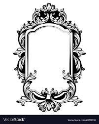 Mirror frame vector Floral Vintage Luxury Mirror Frame Baroque Vector Image Vectorstock Vintage Luxury Mirror Frame Baroque Royalty Free Vector
