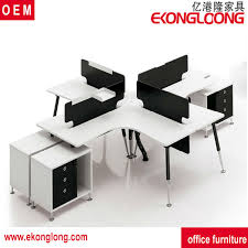 round office desk. glass office workstation for 6 peoplehalf round desk d