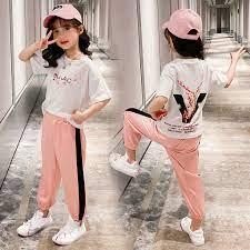 Bé gái 100% coton chữ cái hoa in quần thể thao trang phục xuân hè cho bé  chống muỗi quần nhiều kiểu phối đồ phong cách tây thông dụng trẻ em quần -