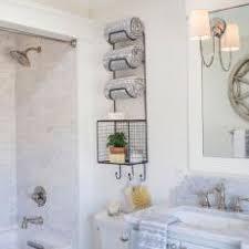 towel rack. Cottage Master Bathroom With Towel Rack