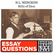 h l mencken hills of zion yes i am show business