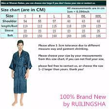 2019 Wholesale Mens Womens Plus Size Long Satin Bath Robe Sexy Kimono Silk Bathrobe Men Peignoir Homme Dressing Gown For Men Summer Robes From Brry