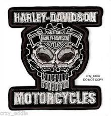 harley davidson motor parts skull vest jacket patch cognition