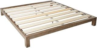In Style Furnishings Aura Modern Metal Low Profile Thick Slats Support Platform Bed Frame - Full Size, Gold