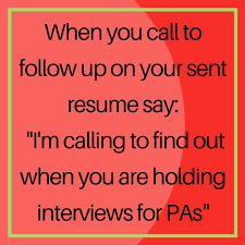 follow up interview call