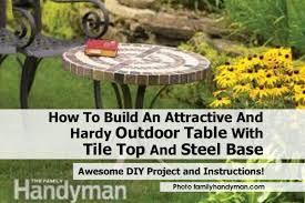 Outdoor Tile Table Top How To Build An Attractive And Hardy Outdoor Table With Tile Top