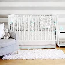 turquoise and gray crib bedding contemporary nursery new