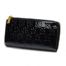 Coach Accordion Zip Large Black Wallets DUY