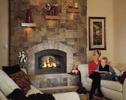 cultured stone fireplace design